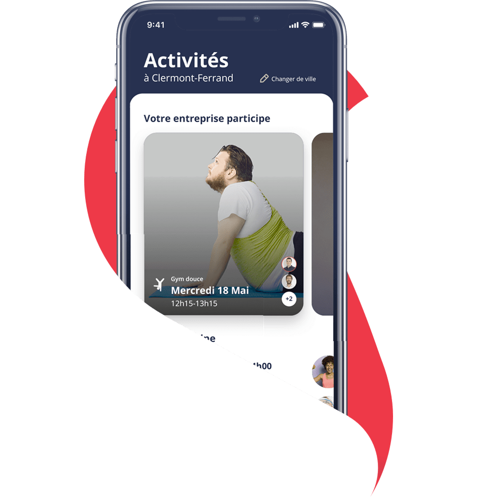 Application mobile de sport en entreprise Sportiiz